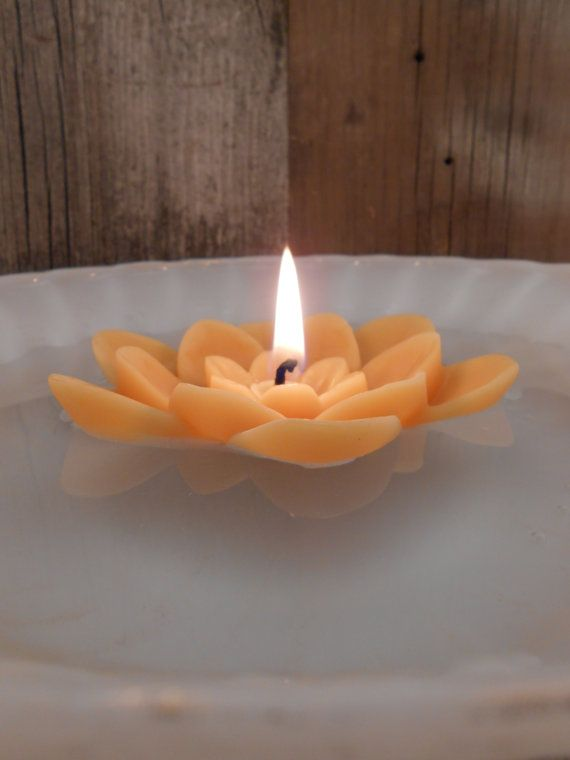 Handmade Beeswax Candle Floating Lotus Flower | Lotus ...