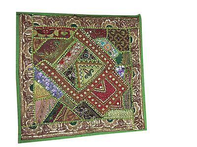 DECORATIVE-PILLOW-COVER-GREEN-SEQUIN-BEADED-COTTON-VINTAGE-CUSHION-COVER    http://stores.ebay.com/mogulgallery/DECORATIVE-CUSHION-COVERS-/_i.html?_fsub=353416719&_sid=3781319&_trksid=p4634.c0.m322