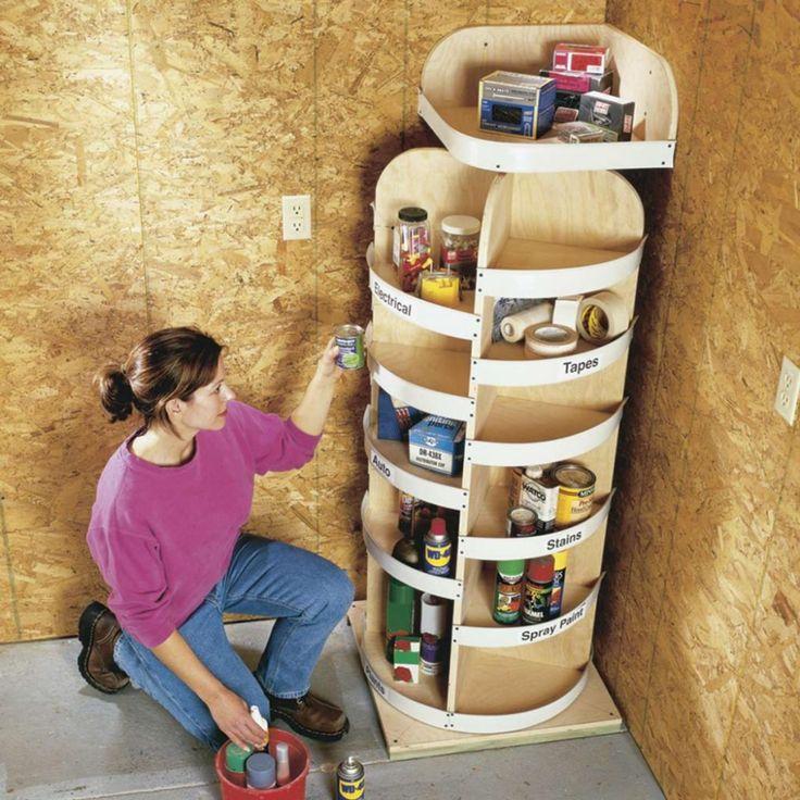 12 projets de rangement pour le garage bon marché à faire soi-même | Organisation de petit ...