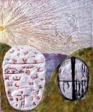 "White Night Woodcut.Twenty print, everyone in different colors. By Strahinja Novovic ""Straja"" Halmstad Sweden"
