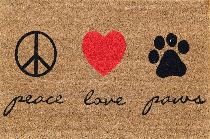 Peace Love Paws  Shop at www.onlymat.com
