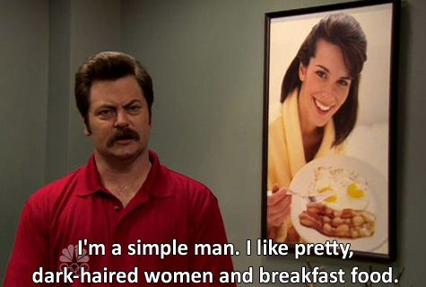 Attack of the Meme: The Best of Parks and Recreation Food Banter. Ron Swanson. Breakfast food and brunettes