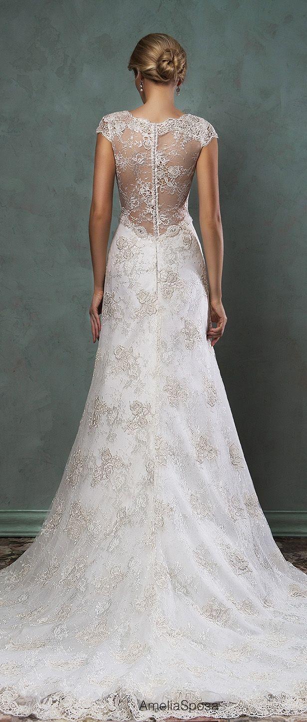 Lace Back Wedding Dress - Amelia Sposa 2016