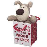 £5.99 - Boofle In A Bag Love You To The Moon And Back  Small Boofle Sitting in a Bag wth message: Love you to the moon and back!
