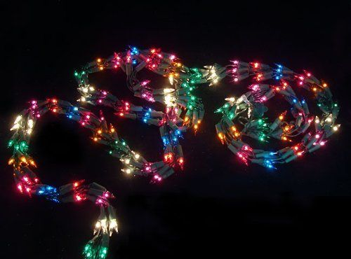 9' Christmas Light Garland with 300 Multi-Color Mini Lights - Green Wire by Vickerman. Save 34 Off!. $22.99. 9 Foot Christmas Light GarlandItem #V104000Features:Color: multi-color bulbs / green wireMulti-color consists of red, green, blue, pink, purple, orange and clear bulbsNumber of bulbs on garland: 300Bulb size: miniLighted length: 9 feetTotal length: 11.6 feet24 inch lead cord9 inch tail cordAdditional product features:These lights are made to commercial specificationsSuper bright bu...
