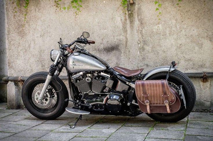 My new Harley Davidson Bobber, just finished. #harleydavidsonsoftailslim