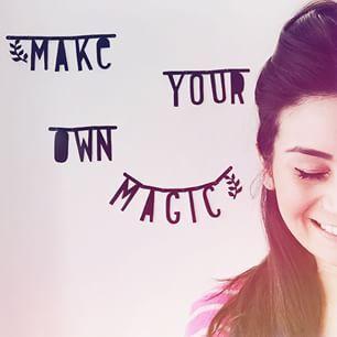 #Wordbanner #tip: Make your own magic - Buy it at www.vanmariel.nl - € 11,95 - Foto #Larissaverbon