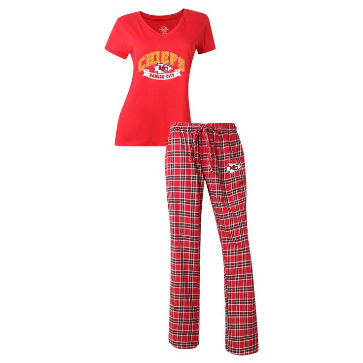 Women's Kansas City Chiefs Concepts Sport Red Medalist Pant & T-Shirt Pajama Set