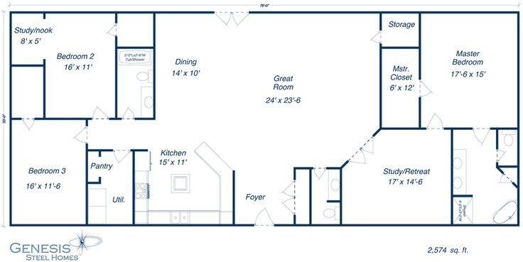 Barndominium Floor Plans furthermore Genesis Steel Home Floor Plans ...