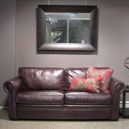 Huntley Extra Large Sofa , Sofas  Rounded arm leather sofa
