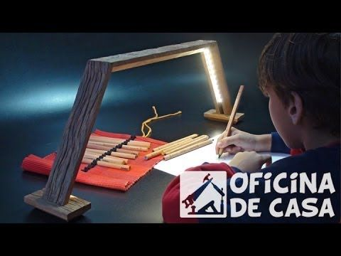 ▶ Luminária de mesa com fita de led - YouTube