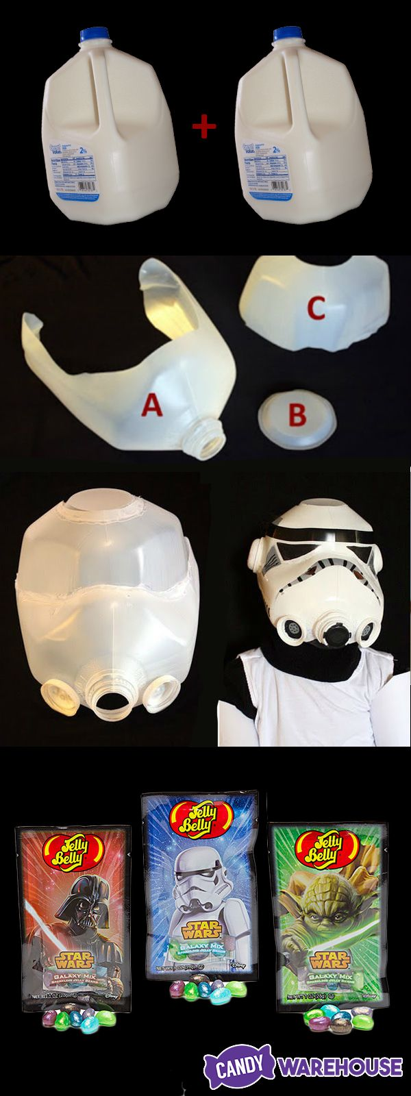 lightweight coats for women Adult DIY Halloween stormtrooper helmet made from two empty milk gallons and some craft paint  Great for an easy homemade Halloween costume  Brought to you by Jelly Belly Star Wars jelly beans  http   www candywarehouse com products jelly belly star wars jelly beans 1 ounce packs 24 piece display