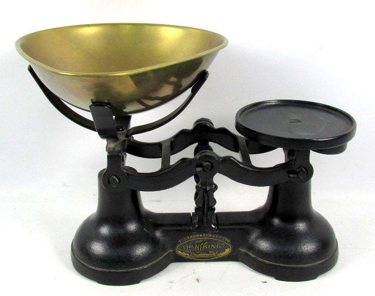 Vintage F J Thornton & Co Ltd The Viking Black Cast Iron Weighing Scale  | eBay