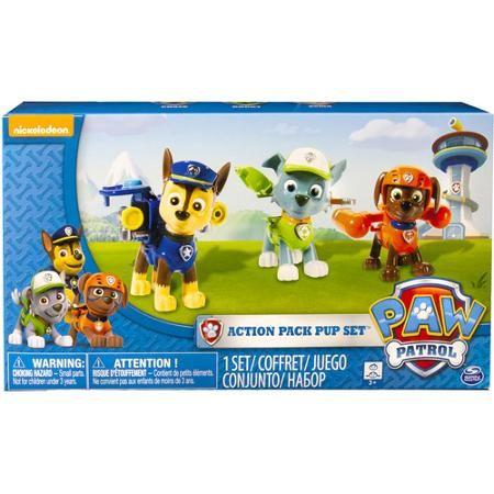 Nickelodeon Paw Patrol Action Pack Pups 3-Pack Figure Set, Chase/Rocky/Zuma - Walmart $14.97