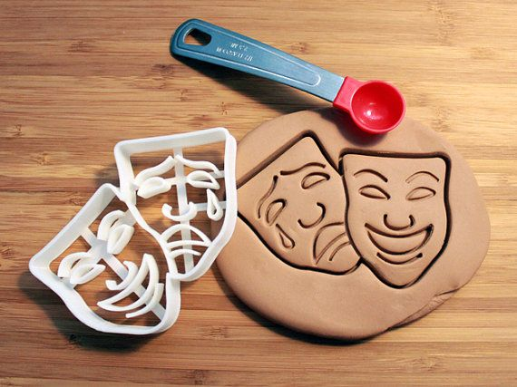 Hey, I found this really awesome Etsy listing at https://www.etsy.com/listing/176331747/comedy-tragedy-masks-cookie-cutter-made