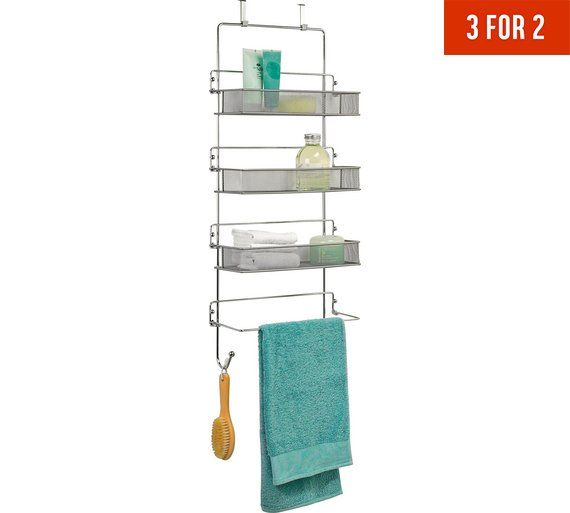 Picture Gallery For Website Buy HOME Tier Chrome Over Door Organiser at Argos co uk Your