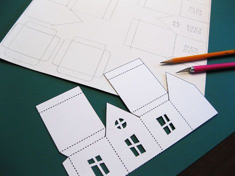 printable little hunted house luminaries you can make with kids for halloween.