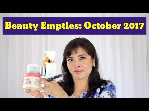 Here are the beauty products I used up in October 2017, and my quick impressions of each.