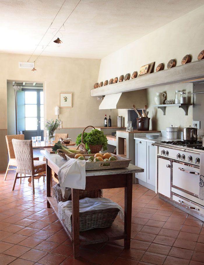 Decoracion Italiana Rustica ~ Beautiful, rustic, Tuscan kitchen ~ Blog by Nela Vivir en La Toscana
