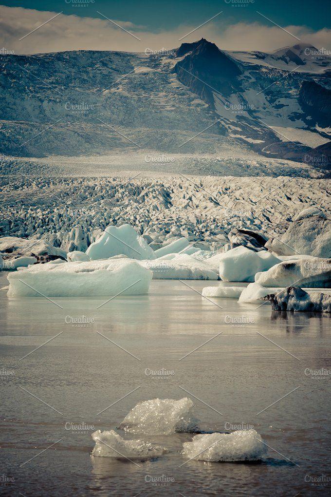 Jokulsarlon Glacier Lagoon, Iceland by Dvoevnore travel photos on @creativemarket