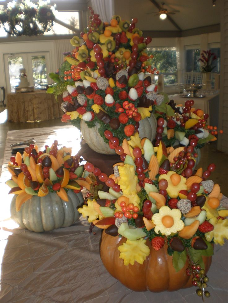 Edible centerpieces for the buffet table greenbranch