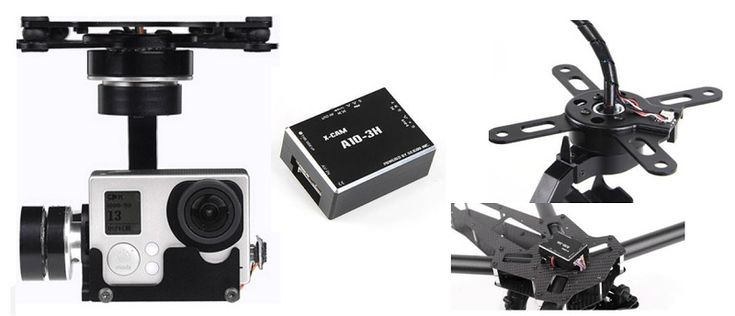 X-CAM A10-3H 3-Axis Gimbal for GoPro and alike cameras