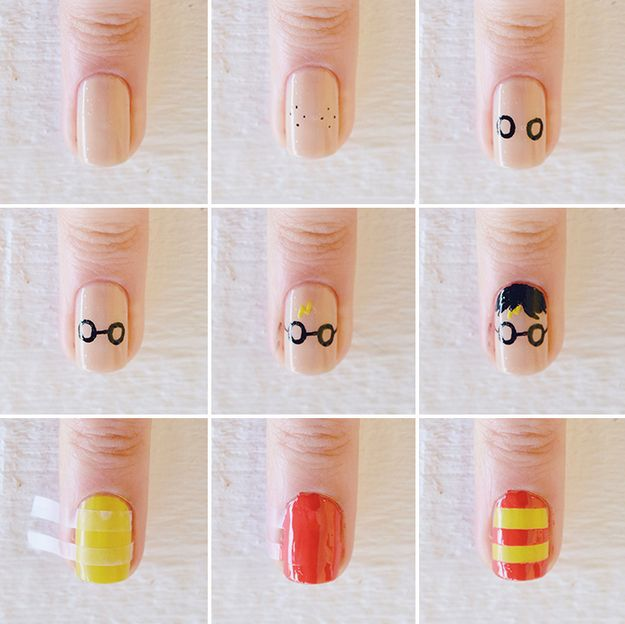 This well-known wizard… | 25 Gloriously Geeky Nail Art Tutorials