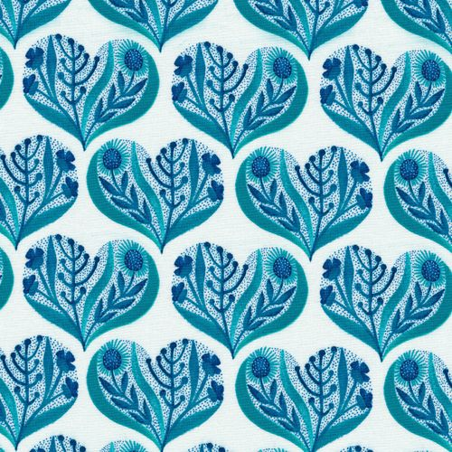 Hearts in Blue from Alegria by Geninne for Cloud9 Fabrics: Heart Blue, Mama Sewing Sewing, Fabrics Heart, Joy, Sewmamasew, Organizations Cotton, Fabric Hearts, Cloud9 Fabrics, Fabrics Stores