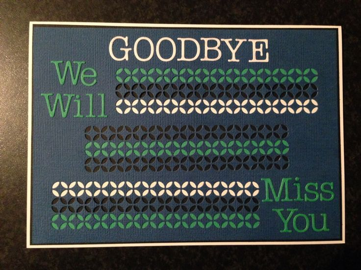 Best Farewell Cards Images On   Farewell Card Going