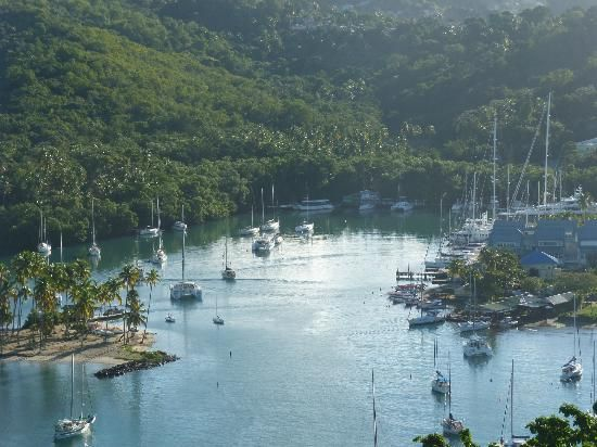 Marigot Bay, St Lucia. Caught my first fish in this bay.