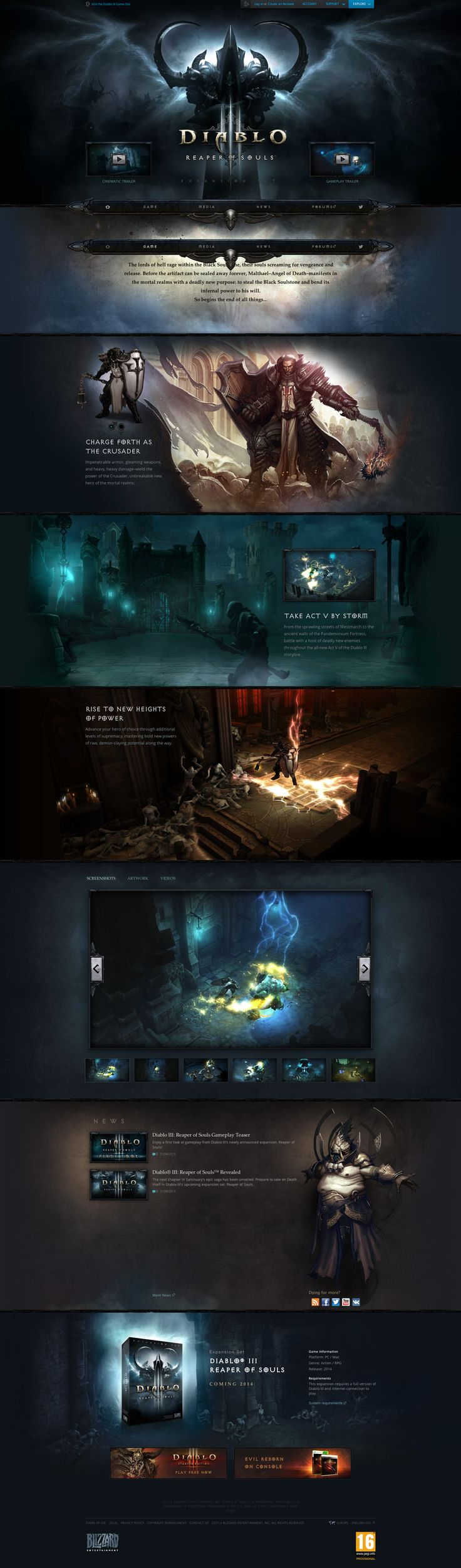 Cool Web Design on the Internet, Diablo III. #webdesign #webdevelopment #website @ http://www.pinterest.com/alfredchong/web-design/