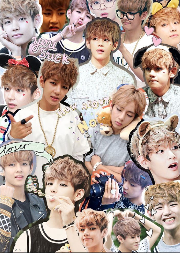 this is my favorite collage of v