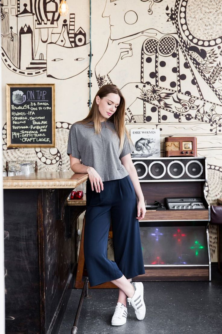 In conversation with Ola Volo in the Chatham Culotte.   Kit and Ace