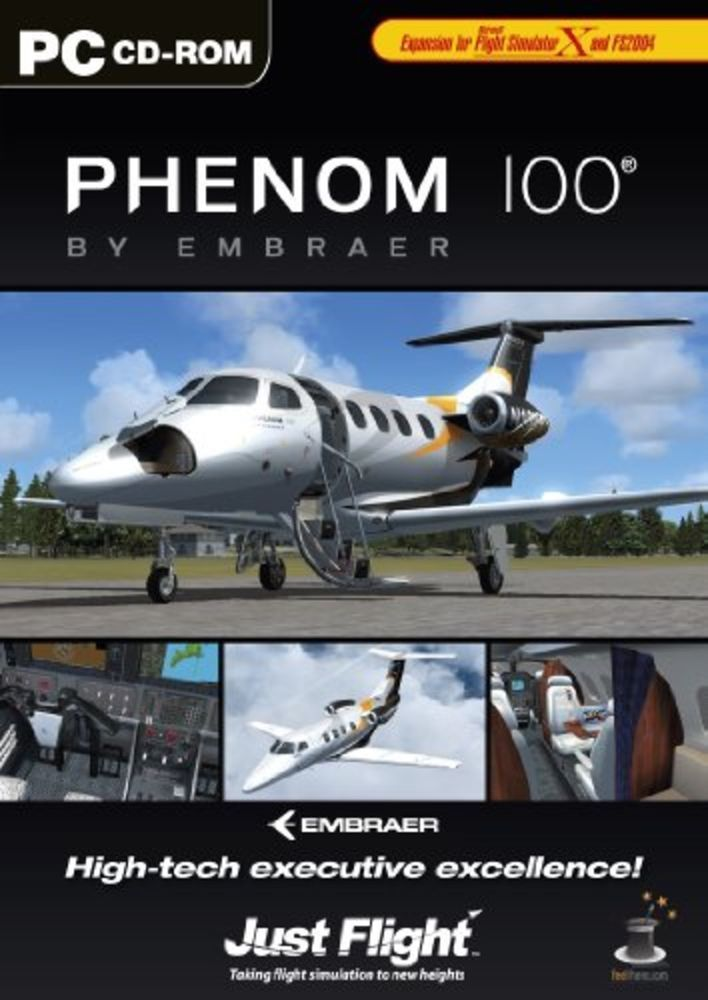 Embraer Phenom 100 add on for MS Flight Simulator PC DVD *NEW