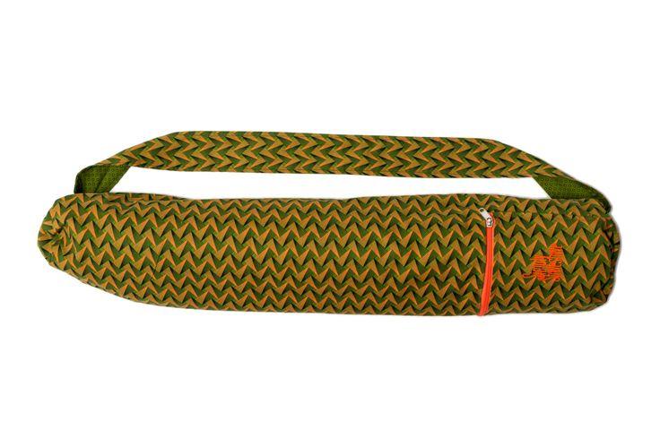 Fynbos Green Yoga Mat Bag, Mat Bag, Shweshwe Green Yoga Mat Bag, 100% Cotton, Yoga Accessories by SimplyShweshwe on Etsy