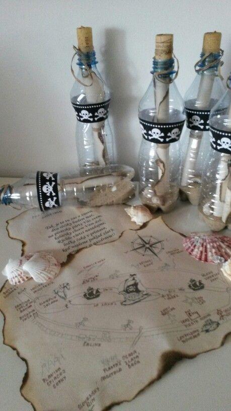 Správa vo fľaši -pozvánka na pirate party
