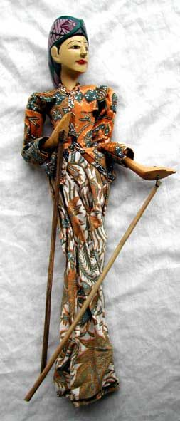 rod puppets | balinese rod puppet typical balinese rod puppets moveable head and ...