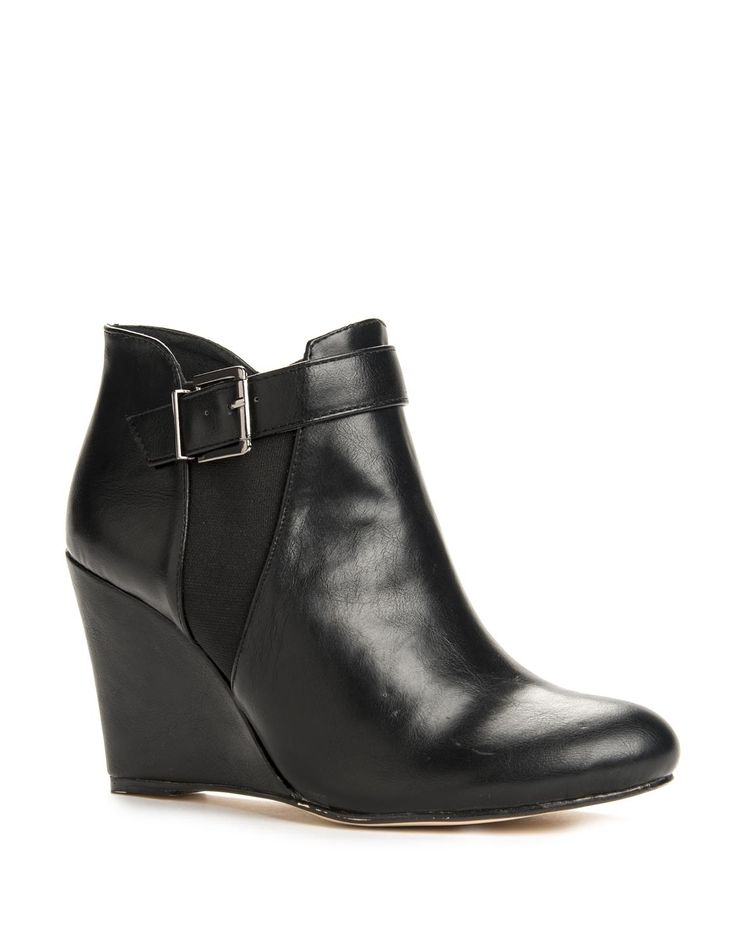 Stretch Wedge Boots