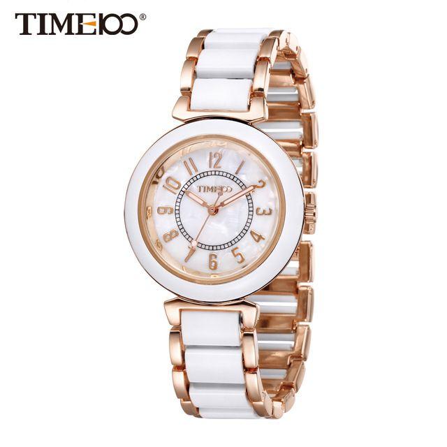 Time100 Женские модные часы роскошный стиль имитация керамические ремешок циферблат из перламутра женские кварцевые часы повседневные часы браслет часы женщина w50149l.01a