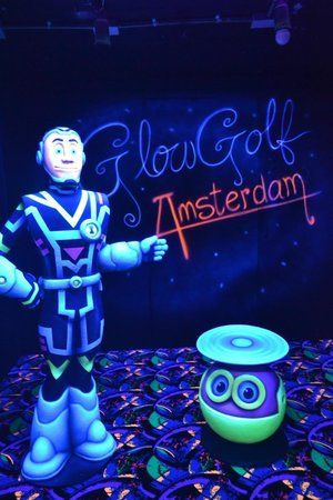 Tucked away downstairs in a pub, 3D Glow Golf in Amsterdam definitely offers something different for travelers...