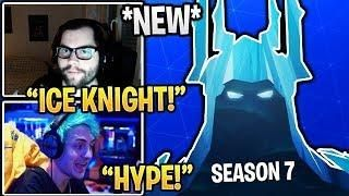 Streamers React To New Season 7 Teaser Ice Knight Skin Fortnite