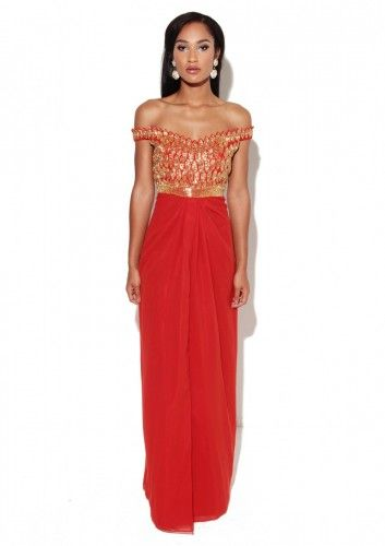 Virgo lounge maxi red dress