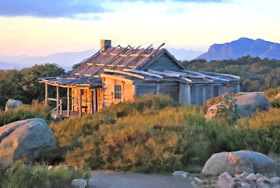 Hut on Mt. Stirling, Australia. (where Man From Snowy River was filmed)