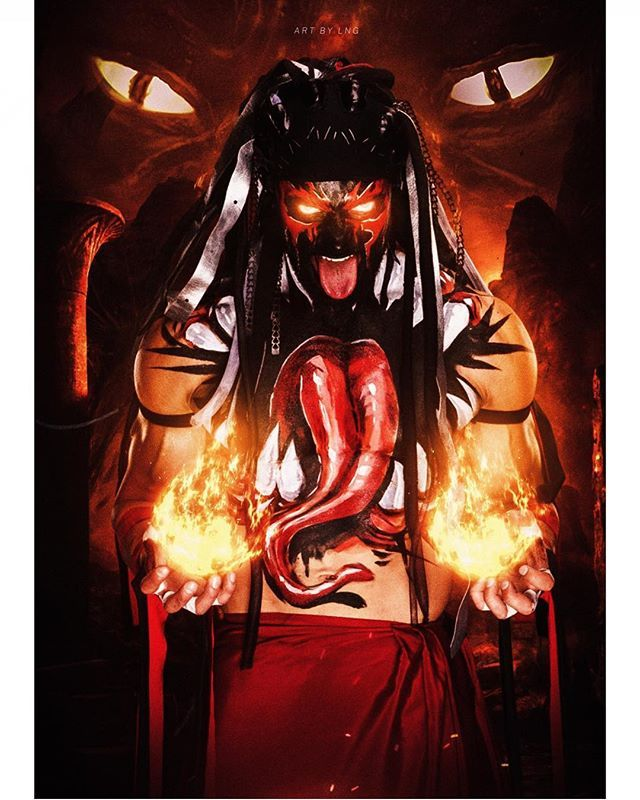 Fire All Tiger Finn Balor Demon King Demon Pics Finn Balor