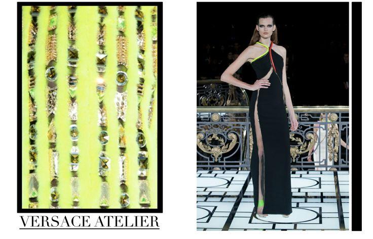 Focus on Versace Atelier in Paris chapter. #Versace #VersaceAtelier #HauteCouture #catwalks #fashion #woman #style #clothes #dress #look