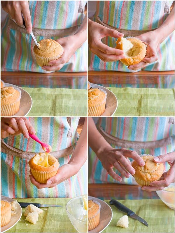 Cupcakes rellenos de lemon curd , Cómo preparar un cupcake relleno de crema de limón en un paso a paso con fotografías. Cómo preparar la crema de limón. Ingredientes para la crema de limón.