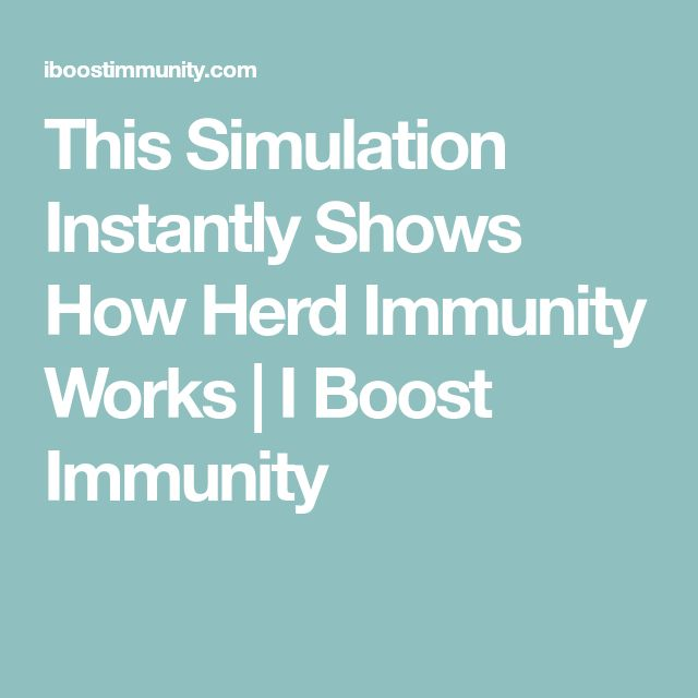 This Simulation Instantly Shows How Herd Immunity Works | I Boost Immunity