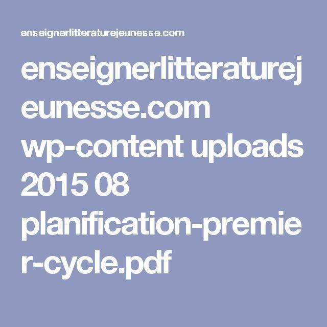 enseignerlitteraturejeunesse.com wp-content uploads 2015 08 planification-premier-cycle.pdf