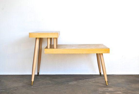 Mid Century Step Table - Vintage Furniture - Mid Mod Home