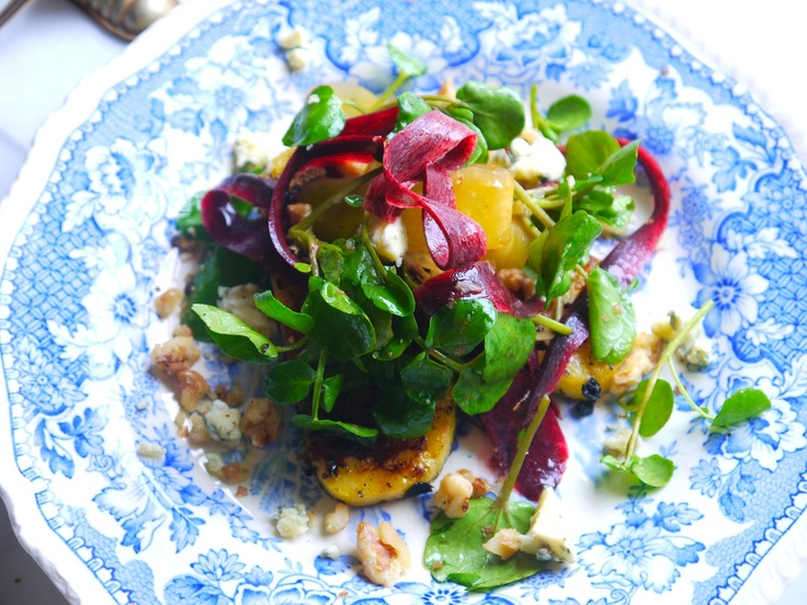 Gluten Free Honey Chargrilled Polenta Salad with Blue Cheese ...